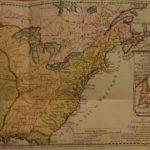 1785 History of the American Revolutionary WAR German Sprengel RARE Color MAP