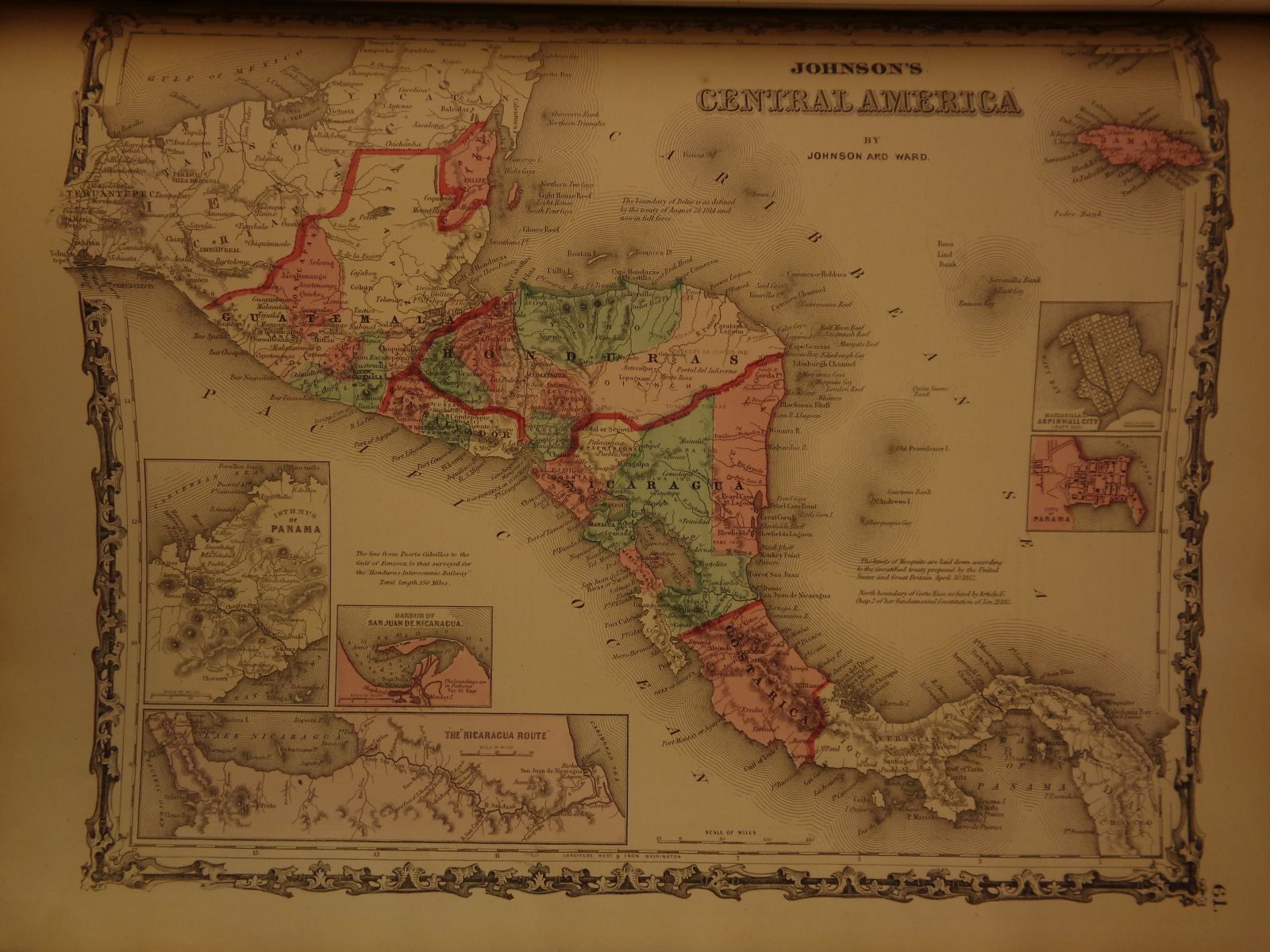 Schilb antiquarian 1863 johnson family atlas geography color maps texas california america new york gumiabroncs Image collections
