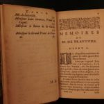 1666 1st ed Memoires of Bourdeille Brantome Sexuality Military Letters 7v SET