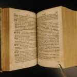1698 Johann Buxtorf HEBREW Latin Dictionary Lexicon OT Bible Concordance Judaica