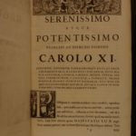 1686 1ed Samuel Pufendorf Natural Law HUGE FOLIO Hobbes Grotius Sweden Suecicis
