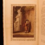 1799 1st printing Shakespeare Seven Ages of Man Color ART Illustrated Stothard