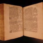 1546 Folio ed Complete Works of EUCLID Elements Mathematics Logic Data Geometry