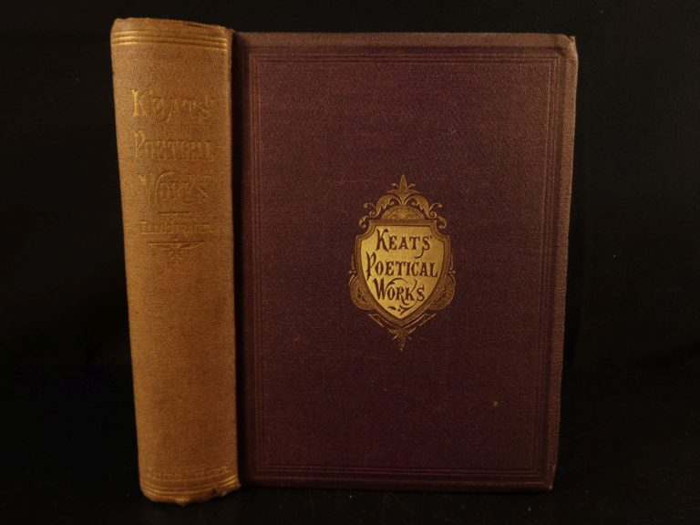 Image of 1873 Poetical Works of John Keats Illustrated Sonnets Poems Eve Saint Agnes