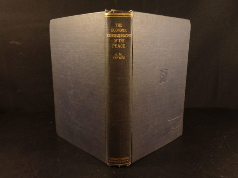 Image of 1920 1st ed Economic Consequences of Peace Keynes Versailles Conference Germany