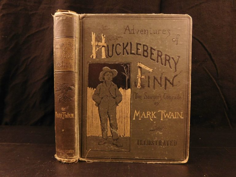 Image of 1885 1st ed Adventures of Huckleberry Finn Mark TWAIN Tom Sawyer Illustrated