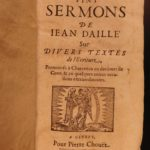 1667 1ed Bible Sermons on Philippians & Colossians Huguenot Jean Daille French