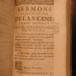 1653 1st ed Bible Sermons by Huguenot Jean Daille French Charenton Calvinist