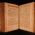 1694 Francis Bacon New Atlantis Novum Organum Augmentis Scientiarum SCIENCE FOLIO