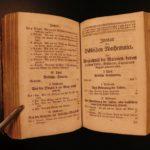 1749 German Mathematics Astronomy Astrology Illustrated CLOCKS Columns Optics