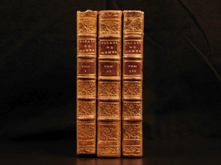 Image of 1636 Essays of Michel de Montaigne Renaissance Philosophy French Essais 3v SET