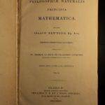 1833 Isaac Newton PRINCIPIA Science Mathematics Astronomy Scottish Jesuit ed