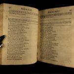 1733 Psalms of David in Romansh Upper Engadine Music Zuoz Switzerland BIBLE