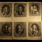 1600s Engraved Portraits Paracelsus ROYALTY Kings & Queens Nobles BEAUTIFUL!