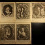 1600s Engraved Portraits Paracelsus ROYALTY Kings & Queens Nobles BEAUTIFUL!