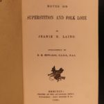 1885 Superstition Laing Scottish Fantasy Faeries Wizards Occult WITCH TORTURE