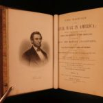 1863 1st ed History of American CIVIL WAR Abbott Illustrated Slavery Abe Lincoln