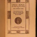 1914 Uncle Remus Harris Slavery Song of the South Brer Rabbit Illustrated