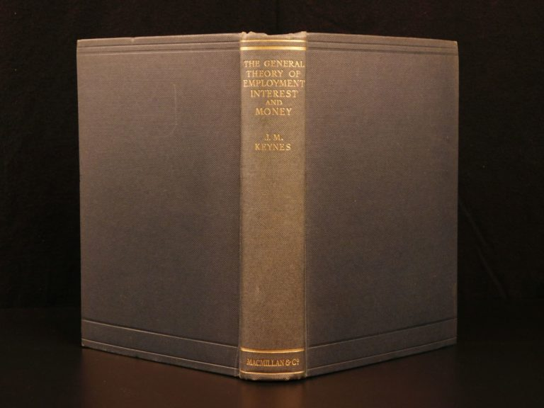 Image of 1936 1st ed John M Keynes General Theory of Employment Finance Economics Money