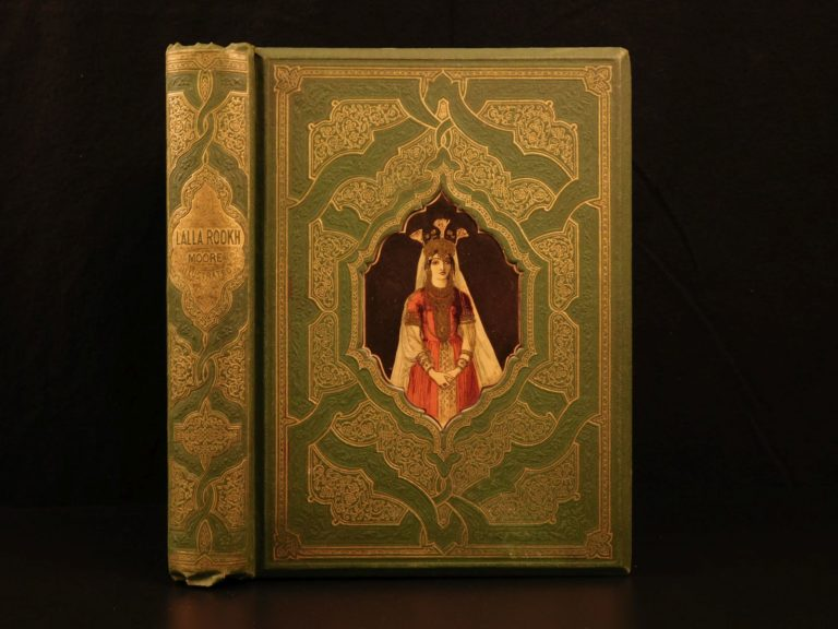 Image of 1868 Mughal INDIA Lalla Rookh Thomas Moore Oriental Romance Illustrated Binding