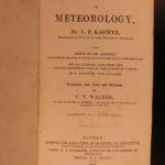 1845 1st ed Meteorology & Weather of Kaemtz Volcanos Blood Shower Clouds English