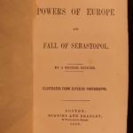 1856 1st Powers of Europe Fall of Sebastopol Crimean War Illustrated Huge MAP
