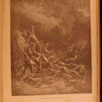 1887 Gustave Doré Masterpieces Illustrated Dante Bible Milton Fontaine Quixote