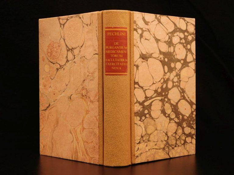 Image of 1702 1ed Pechlin Dutch Medicine & Smoking Tobacco Digestion Anatomy Illustrated