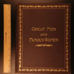1894 EXQUISITE Great Men Famous Women History Gustave Dore Art Illustrated