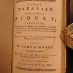 1778 Hoyle's GAMES Cards Poker Gambling CHESS Tennis Archery Billiards Cricket