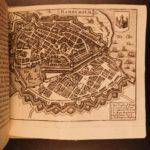 1655 Zeiler Topographia Merian Atlas City Maps Germany Denmark Norway Sweden