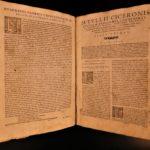 1563 CICERO Epistolae Letters Roman Republic Julius Caesar Bonelli Latin Folio