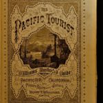 1876 Pacific Tourist RAILROAD Illustrated HUGE Map Trains Pacific Travel Guide