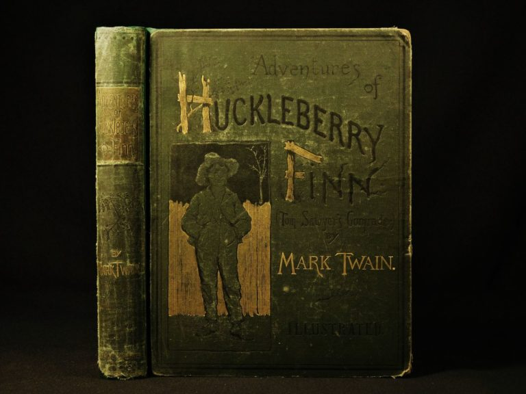 Image of 1885 TRUE 1ed 1st printing Adventures Huckleberry Finn Mark TWAIN Tom Sawyer