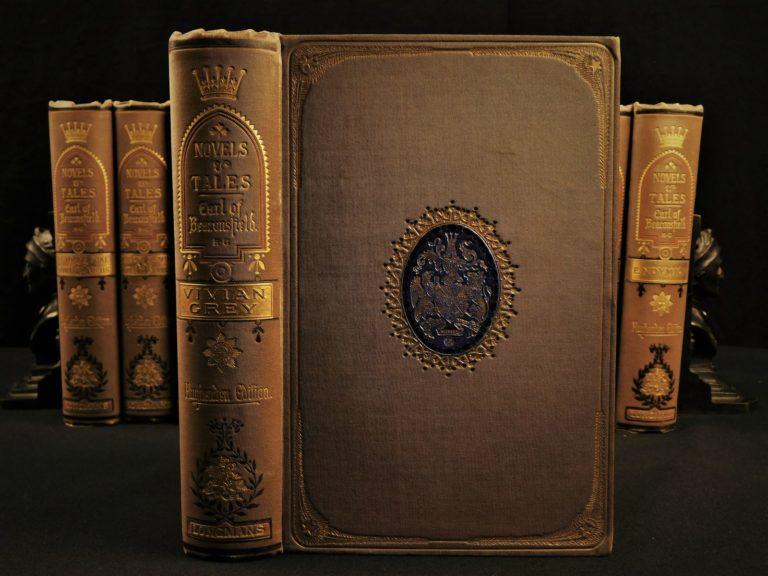 Image of 1881 Novels Earl Beaconsfield Disraeli Sybil Vivian Grey Venetia Coningsby 11v