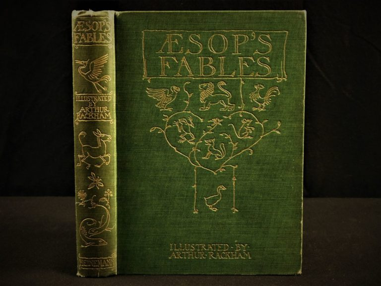 Image of 1912 1ed Aesop Fables Illustrated by Arthur Rackham Esoteric Occult Fairy Tales