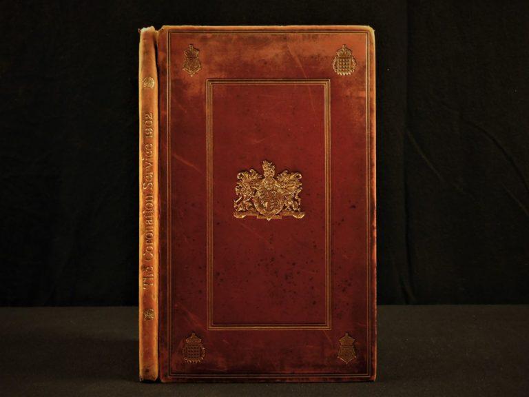 Image of 1902 RARE 1st Edward VII Coronation Queen Alexandra England Prayers Lmtd ed