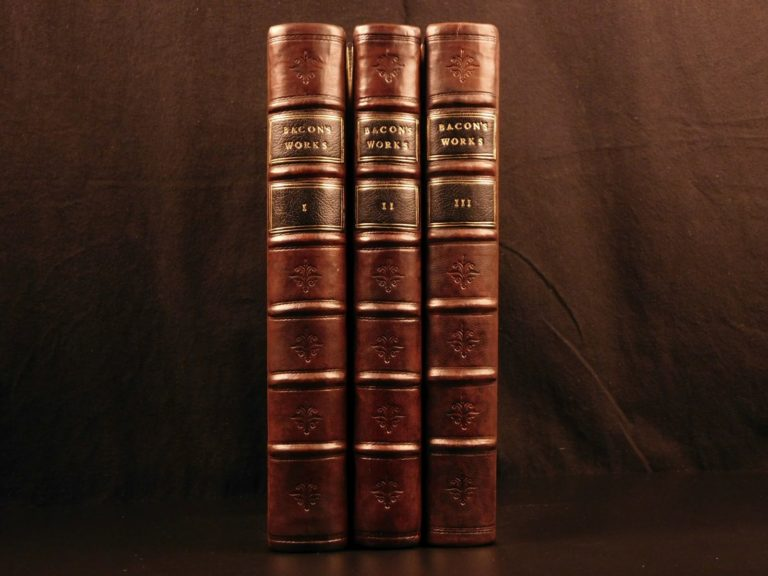 Image of 1753 EXQUISITE Complete Works Francis Bacon Natural History Science Law English