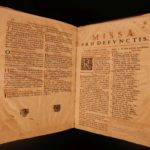 1688 FOLIO Roman Catholic Breviary Liturgical Chant Martyr Prayers Augustine