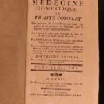 1788 Domestic Medicine for Poor Smallpox Cures Healing Scottish Homeopathy