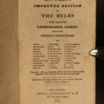 1841 American Hoyle Poker Cards Billiards Chess Tennis Horse Racing Illustrated