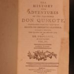 1796 Don Quixote Cervantes Chivalry English Smollett Translation Illustrated 5v