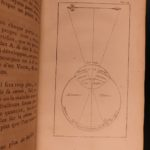 1738 1st ed Isaac NEWTON of Voltaire Optics Physics Illustrated Astronomy