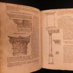 1552 Vitruvius De Architectura Roman Architecture Engineering Woodcut Engraving
