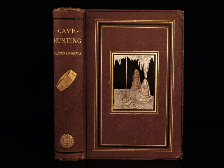 Image of 1874 1ed Cave Hunting Archaeology Prehistoric Humans Ancient Fossils Illustrated
