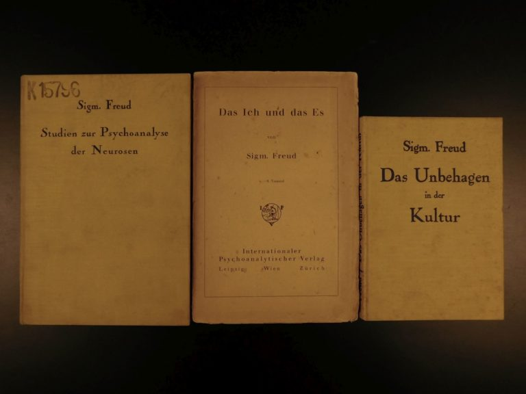 Image of 1923 Sigmund Freud 1st editions Psychoanalysis Psychology Ego & Id Sexuality
