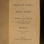 1847 British Highland Sports Game Hunting Illustrated Birds Dogs CASTLES 2v