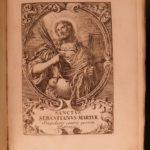 1702 Saint Sebastian Life & Miracles Matthaeus Hemer Martyrology Music Healing
