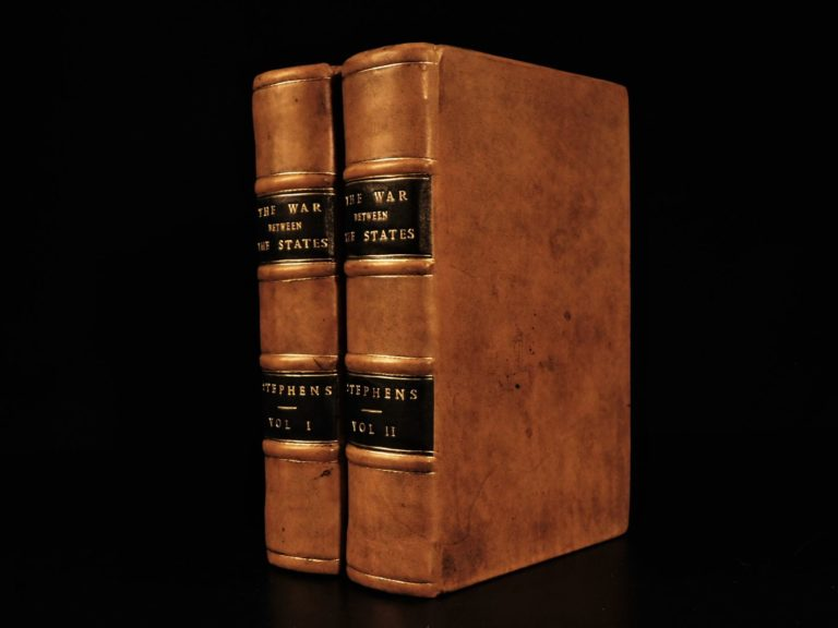 Image of 1868 1ed Constitutional View of CIVIL WAR by Alexander Stephens Confederate 2v