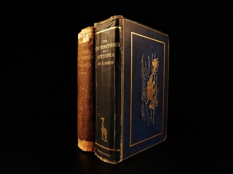 Image of 1867 1ed Africa Hunting Baker Nile Tributaries of Abyssinia EGYPT Exploration